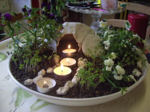 Our Easter Garden which we make every year