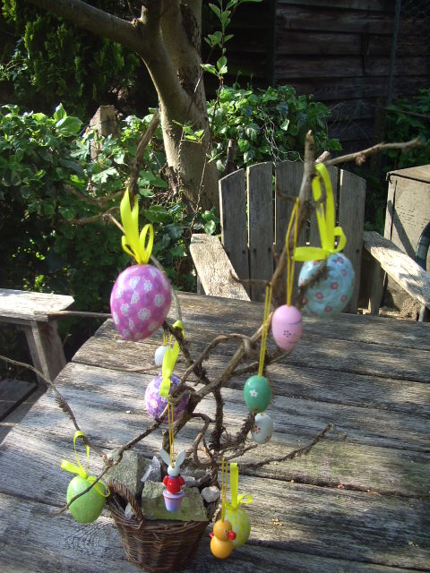 Blown eggs Easter Tree, courtesy of Mum in 2012