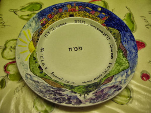 Our family Seder plate