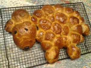 Easter Morning lamb bread